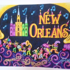 NEW ORLEANS SECOND LINE limited edition giclee, 12″ X 16″ Signed