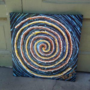 Single Circle Painting, original oil painting, 20″ x 20″
