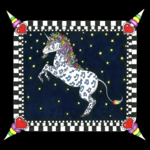 NEW ORLEANS UNICORN  Limited Edition Fine Art Giclee, signed 12 X 16 Black background version