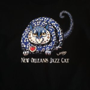 New Orleans Jazz Cat Youth 100% cotton  T-Shirt, black