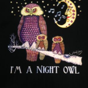 I'm a Night Owl Youth 100% cotton  T-Shirt, black