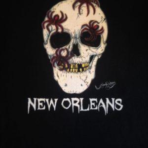 Spider Skull Crew Neck 100% cotton T-shirt, Choose your shirt color!
