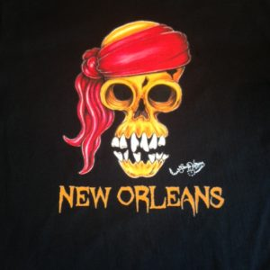 Orange Skull Crew Neck 100% cotton T-shirt, Choose your shirt color!