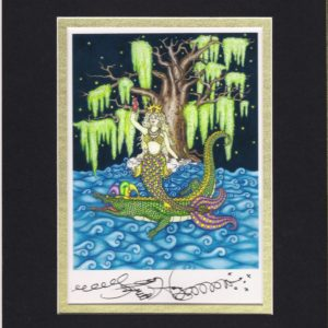 Mardi Gras Mermaid Fine Art Giclee, matted to fit an 8″ x 10″ frame