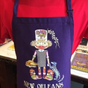 """I Love Chicken"" Adjustable Bib Apron with Center Divided Pocket"