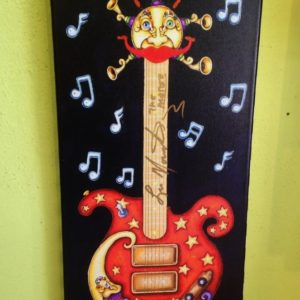 Red Guitar Giclee on Canvas, signed, 11″  x 24″ autographed by Leo Nocentelli