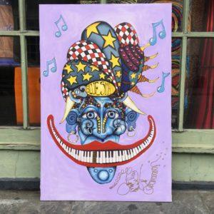 Bluesman, original oil painting, 24″x 36″
