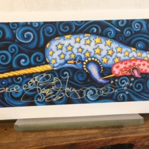 Mother and baby Narwhale Fine Art Giclee, signed