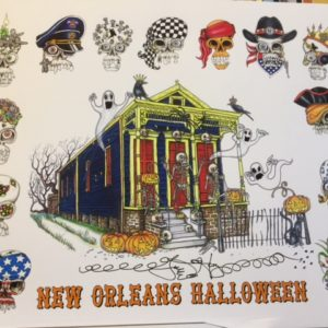 New Orleans Halloween Limited Edition Fine Art Giclee, signed and remarqued 12 X 16