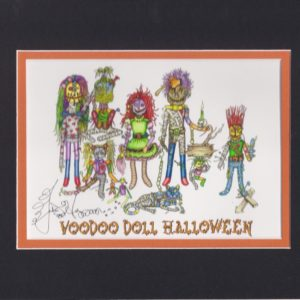 A Voodoo Doll Halloween, matted to fit an 8″ x 10″ frame