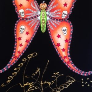 HALLOWEEN BUTTERFLY  Limited Edition Fine Art Giclee, signed 12 X 16 Black background version