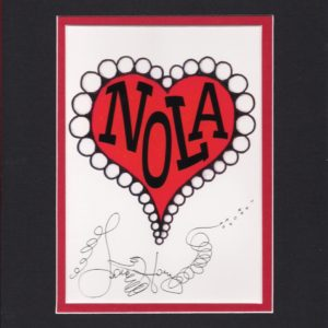 """NOLA heart"" Valentine's Day 2018, matted to fit an 8″ x 10″ frame"
