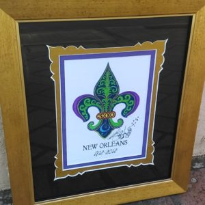 Gold Framed New Orleans 300th Anniversary, signed