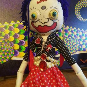 Jamie Hayes' hand-painted 16″ Valentine's Day Make-A-Wish doll, signed, one of a kind