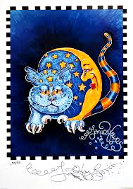 Blue Moon Kitty Limited Edition Print