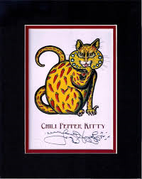 Chili Pepper Kitty 8″ x 10″ Double Matted Print