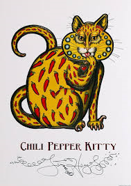 Chili Pepper Kitty Limited Edition Print