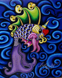Dancing Pucker Fish Limited Edition Print
