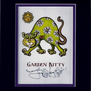 Garden Kitty 8″ x 10″ Double Matted Print