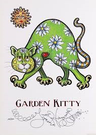 Garden Kitty Limited Edition Print