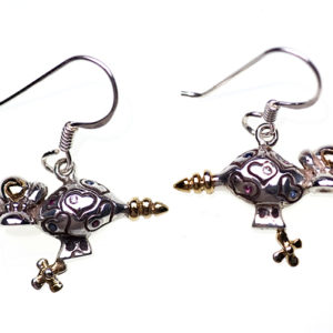 Sterling silver Hearts & Jewels | Zeppelin Earrings