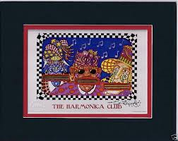 Harmonica Club 8″ x 10″ Double Matted Print