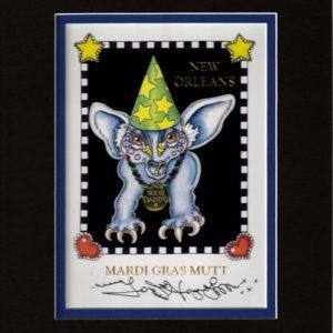 Mardi Gras Mutt 8″ x 10″ Double Matted Print