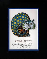 Star Kitty 8″ x 10″ Double Matted Print, signed