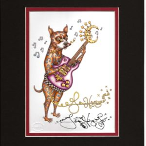Boxer Playing Guitar 8″ x 10″ Double Matted Print