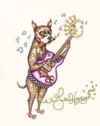 Boxer Playing Guitar Limited Edition Print