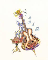 Chihuahua Playing Bass Limited Edition Print