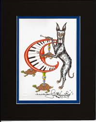 Great Dane Playing Xylophone 8″ x 10″ Double Matted Print