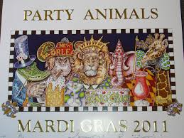 Party Animals 2011 Mardi Gras Poster