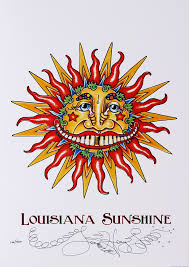 Louisiana Sunshine Embossed Print