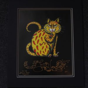 Chili Pepper Kitty Fine Art Giclee, Limited Edition, Matted
