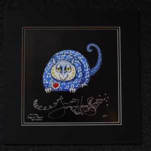 Music Kitty Fine Art Giclee, Limited Edition, Signed and Matted