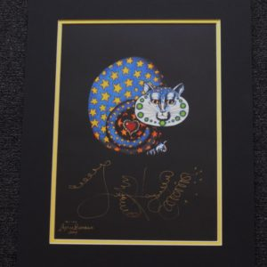 Star Kitty Fine Art Giclee, Limited Edition, Signed & Matted