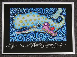 Starry Sperm Whale Fine Art Giclee