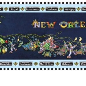 Mardi Gras Parade 2012 with Street Signs Lithograph