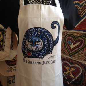 New Orleans Jazz Cat 100% cotton Apron