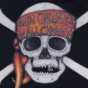 New Orleans Halloween Black Crew Neck T-shirt