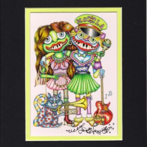 Nola Voodoo Dolls 8″ x 10″ Double Matted Print, signed