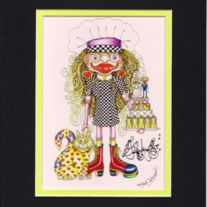 I Love to Bake Double Matted 8″ x 10″ Signed Giclee