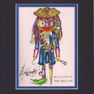 Jean Lafitte Double Matted 8″ x 10″ Signed Giclee