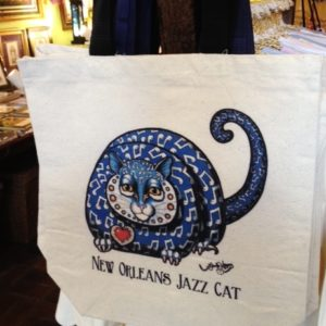NEW! NEW ORLEANS JAZZ CAT Canvas Tote