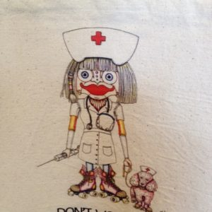 This Won't Hurt A Bit Rollerskating Nurse Canvas Tote