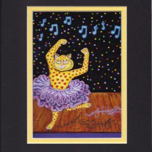 Tutu Kitty Matted 8″ x 10″ Fine Art Giclee, signed