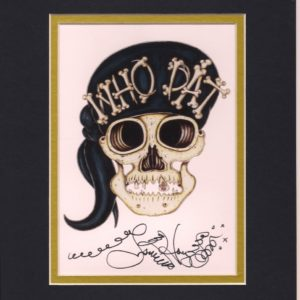 Who Dat skull 8″ x 10″ Fine Art Giclee, signed