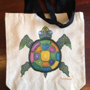 Turtle Canvas Tote