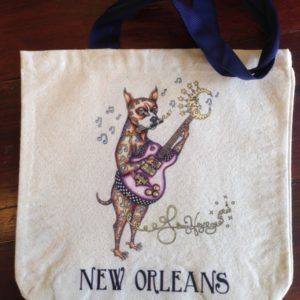Boxer Blues Dog Canvas Tote